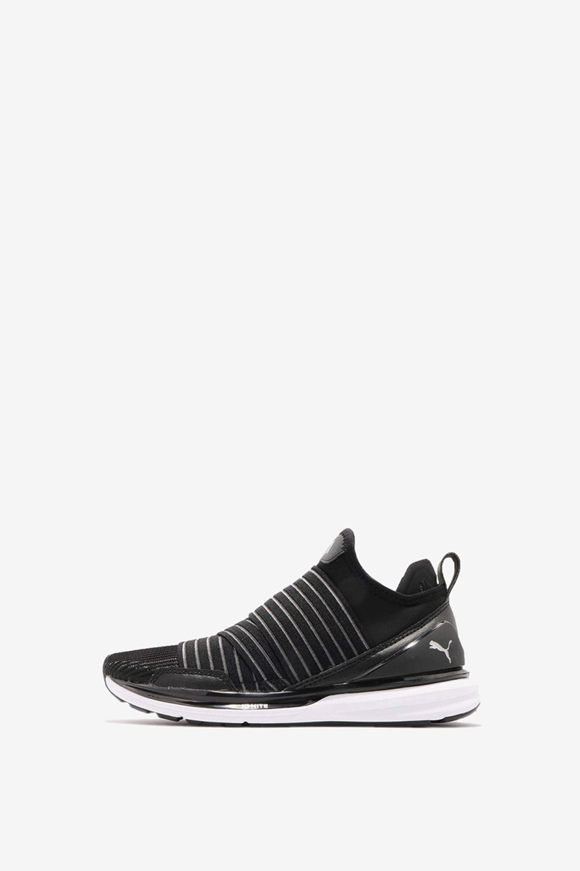 Women's Ignite Limitless Stripped Sneakers, Black/White