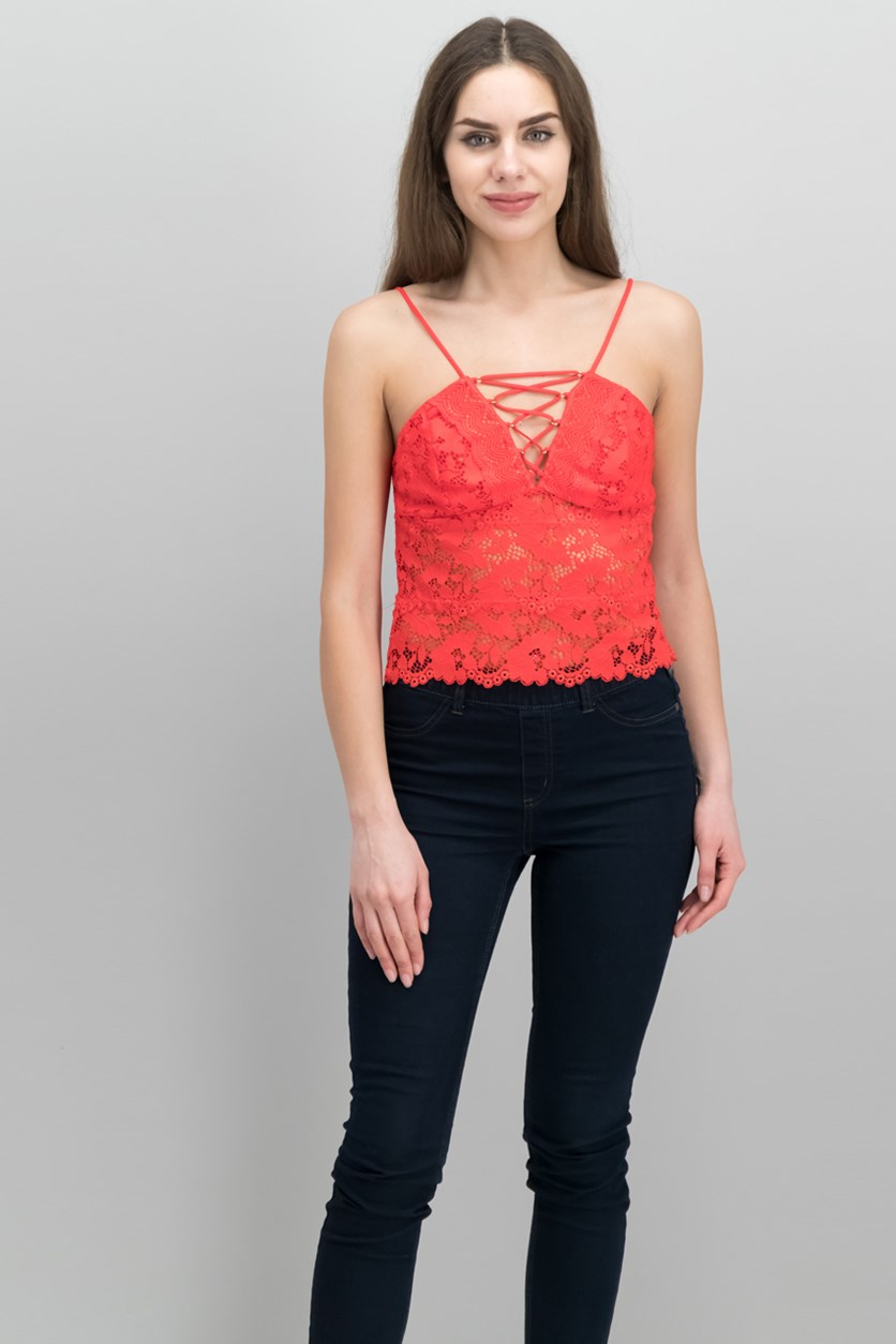 Graham Lace Camisole, Red Lava