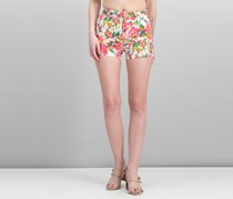 GUESS Floral-Print Shorts, White Lucid Jungle