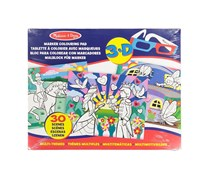 Melissa & Doug Easy-to-See 3-D Kids' Coloring Pad - Princesses, Fairies, Horses, and More