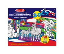 Melissa and Doug Marker Colouring Pad Animals, Blue Combo