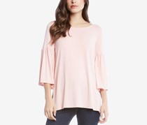 Karen Kane Bell Sleeve Side Slit Top, Rose