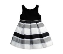 Sweet Heart Rose Toddlers Girls Dress, Black/White