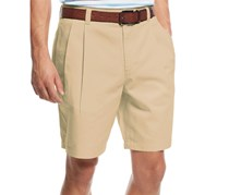 Club Room Men's Double-Pleated Cotton Shorts, Creek bed