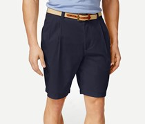 Club Room Men's Double-Pleated Shorts, Officer Navy