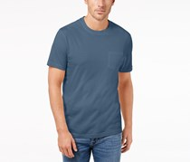 Club Room Mens Patterned Cotton T-Shirt, Wedgewood Blue
