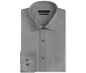Geoffrey Beene Regular Fit No Iron Dress Shirt, Gun Metal
