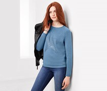 Women's Knitted Jumper, Blue