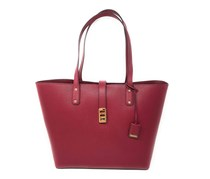 Michael Kors Karson Large Carryall Leather Tote Bag, Mulberry