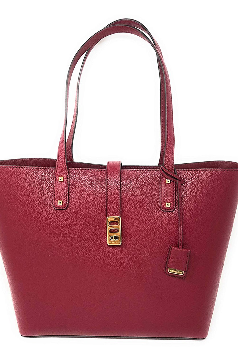 d8d4f9cbc049cb Shop Michael Kors Michael Kors Karson Large Carryall Leather Tote ...