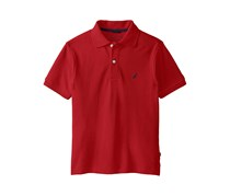 Nautica Little Boys Solid Anchor Polo Shirt, Red