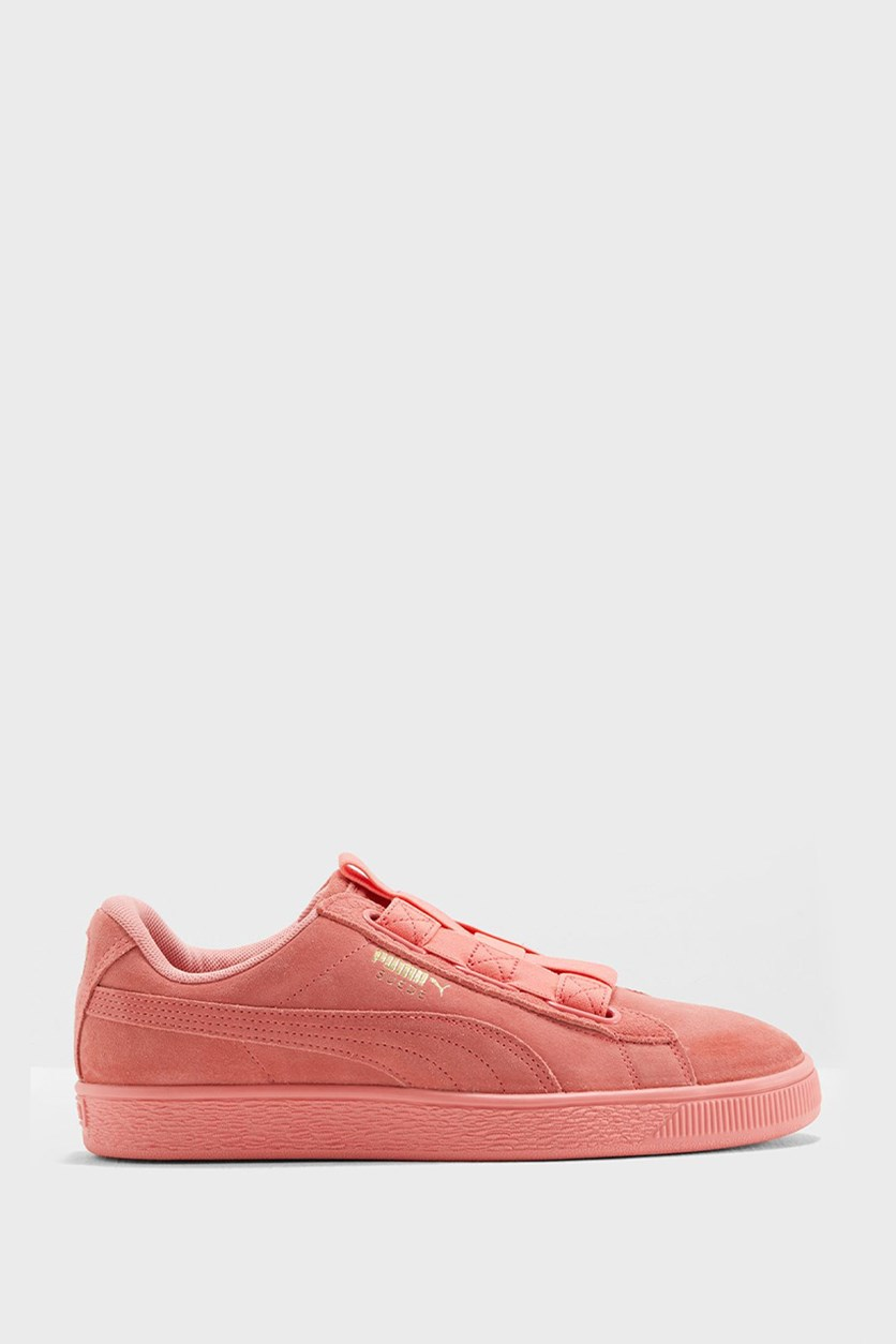 Women's Suede Maze, Shell Pink