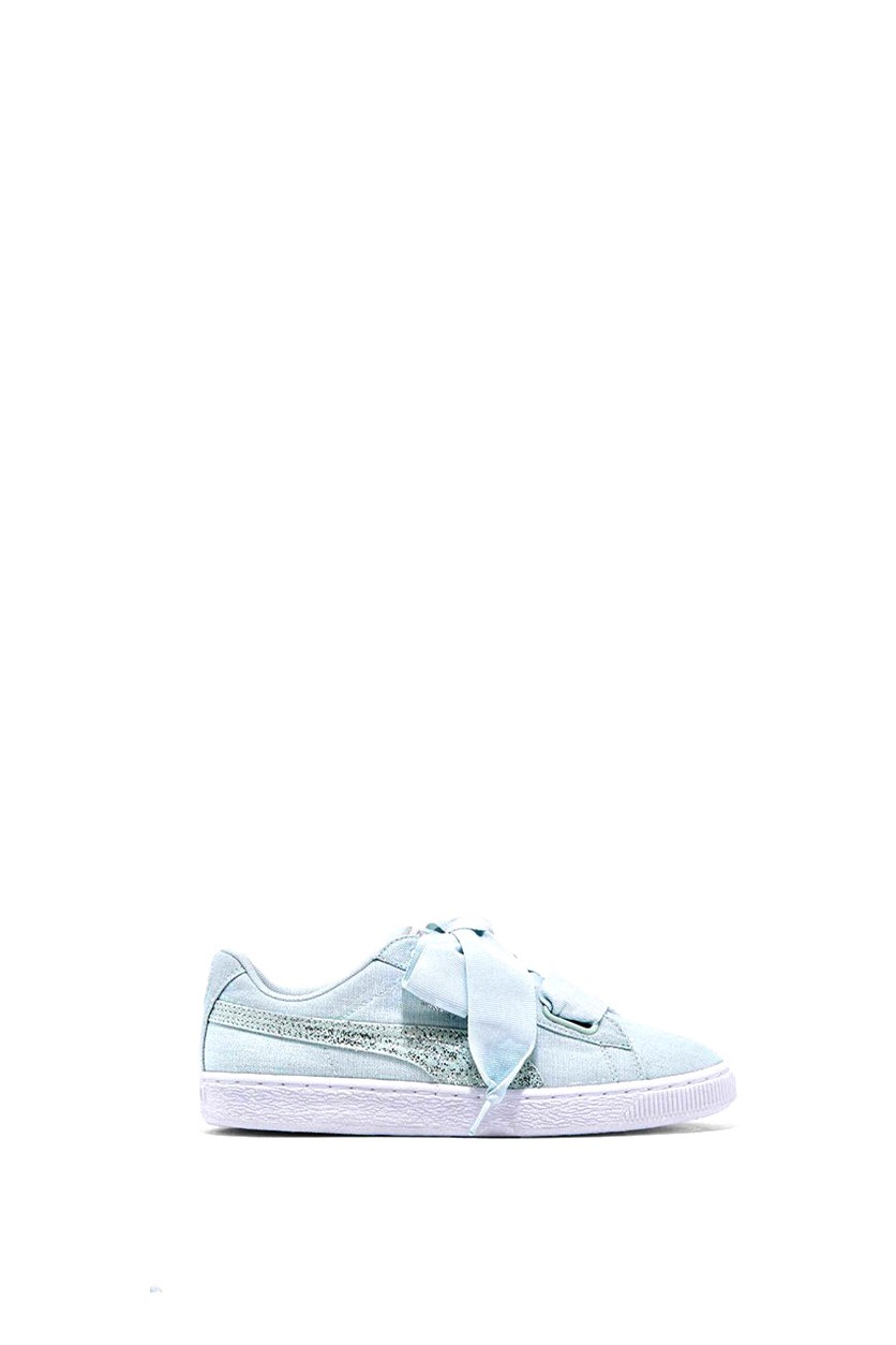 Basket Canvas Shoes, White/Silver