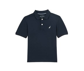 Nautica Big Boy's Short Sleeve Solid Polo Shirt, Sport Navy