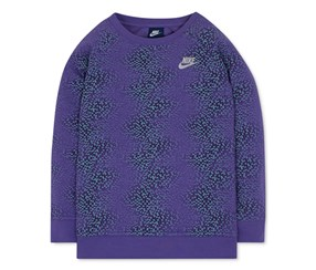 Nike Girls Geo-Print Sweatshirt, Purple