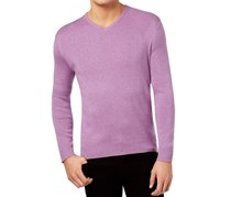 Calvin Klein Mens Merino Wool Sweater, Rhondite Heather