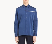 Calvin Klein Men's Slim Fit Micro-Stripe Shirt, Blue