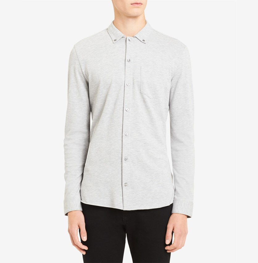 Men's Collared Shirt, Cool Gris Heather