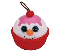 Ty Holiday Baby Beanies Ornament Cake Clip, Red/White Combo