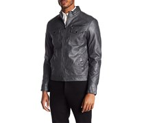Kenneth Cole New York Faux Leather Jacket, Coal