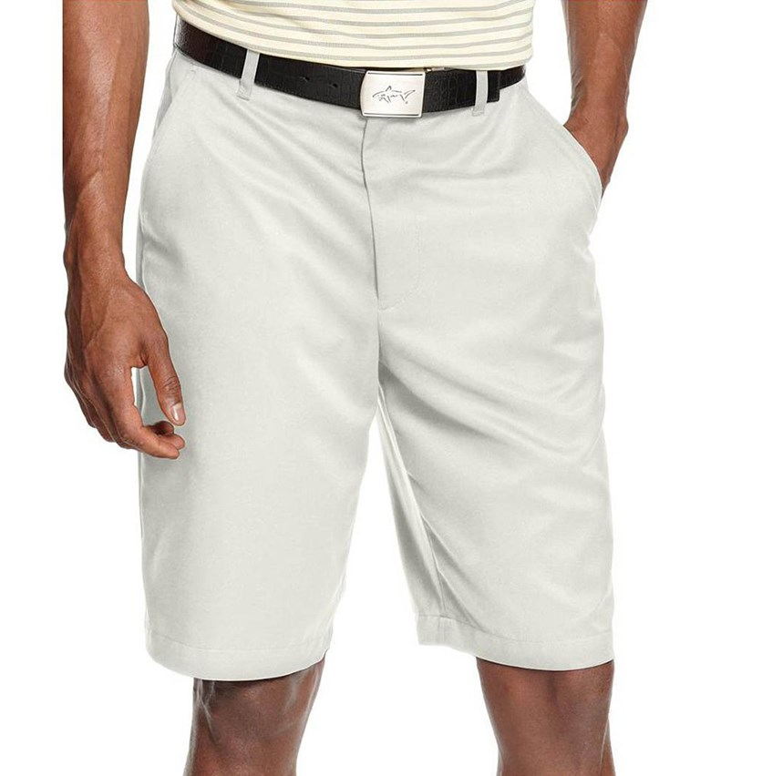 for Tasso Elba Men's Microfiber Golf Shorts, White Fog