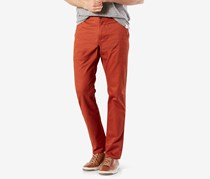 Dockers Mens Stretch Slim Casual Chino Pants, Dark Russet