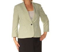 Kasper Women's Casual Blazer, Green/White