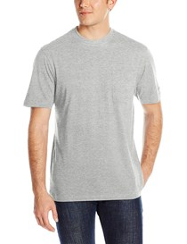 IZOD Mens Double-Layer Jersey Pocket T-Shirt,  Light Grey Heather