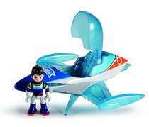 IMC Toys Miles from Tomorrow Toy Photon Flyer and Action Figure Playset, Aqua