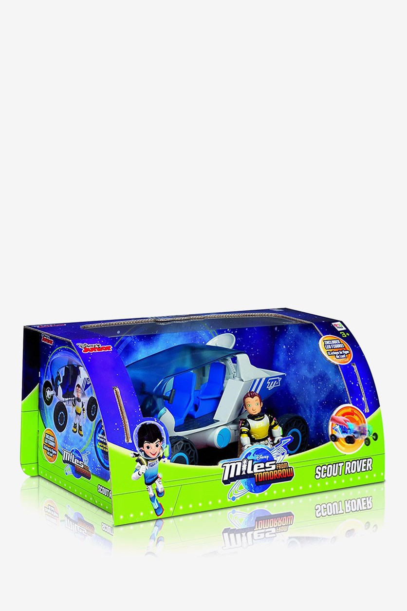 Miles Rover Pull Back and Go Action Figure, Blue/White combo