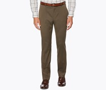 Perry Ellis Men's Classic-Fit Textured Pants, Rain Drum/Brown