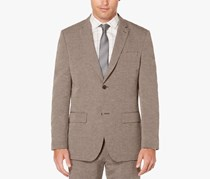 Perry Ellis Mens Filbert Slim-Fit Two Button Blazer, Brown