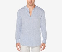 Mens Chambray Popover Shirt, Colony Blue
