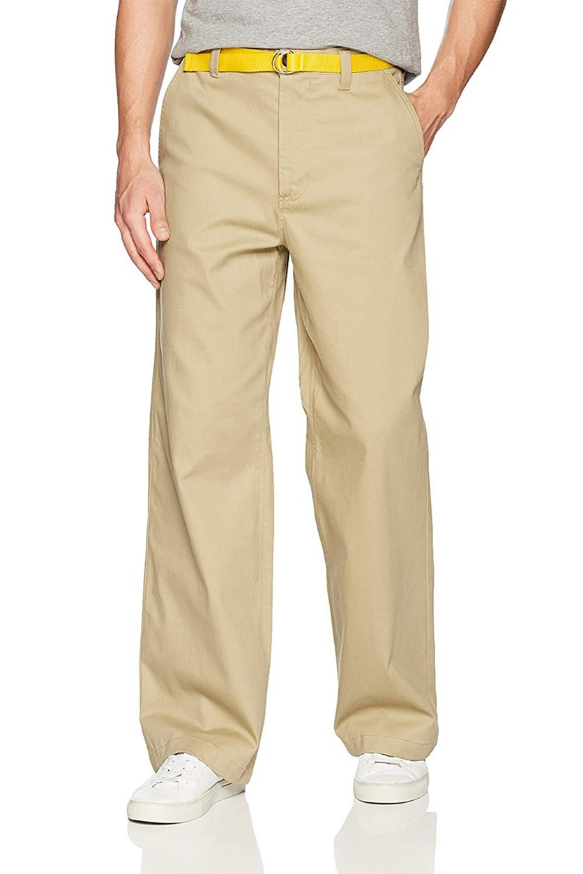 Men's Wide Leg Chino Pants, Khaki