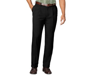 Van Heusen Men's Pleated Big & Tall Casual Pants, Black