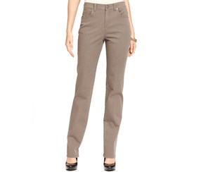 Style & co. Women's Straight-Leg Tummy- Control Jeans, Warm Taupe
