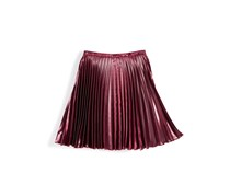 Nowadays Women's Juniors Girls Pleated Skirt, Burgundy