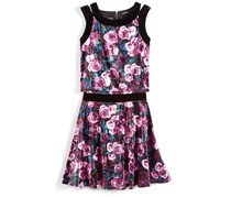 Nowadays Big Girls Skai 2-Pc. Floral Print Skirt Set, Velvet Combo