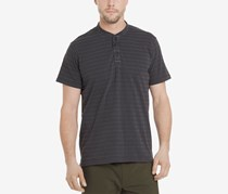 G.h. Bass & Co. Men's Jack Mountain Textured Henley T-Shirt, Blackened Pearl