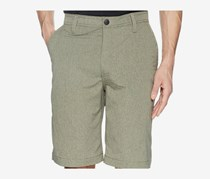Men's Cliff Peak Classic-Fit Stretch Heather Hybrid Short, Neutral Grey