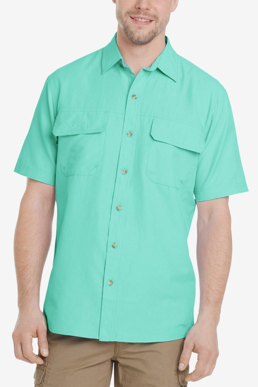 Men's Explorer Fishing Shirt, Aqua Splash