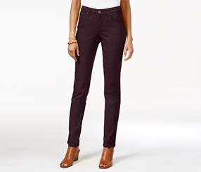 Style & Co. Curvy-Fit Colored Wash Skinny Jeans, Dried Plum
