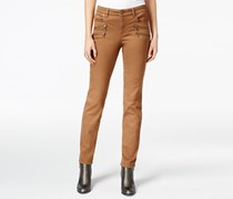 Style & Co. Zip-Trim Tobacco Wash Skinny Jeans, Tobacco
