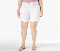 Style & Co Plus Size Relaxed Shorts, Bright White