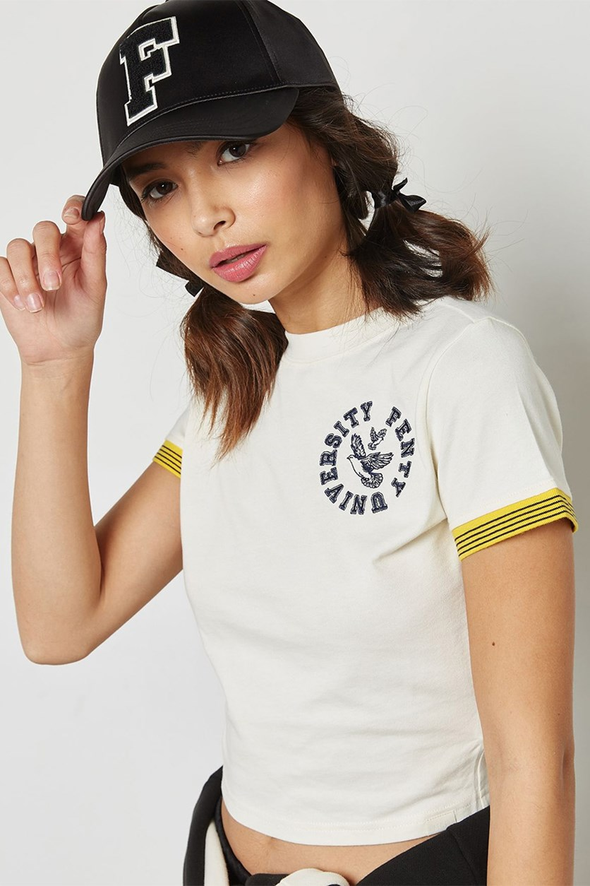 Puma Women's Cropped Vintage T-Shirt, Vanilla Ice