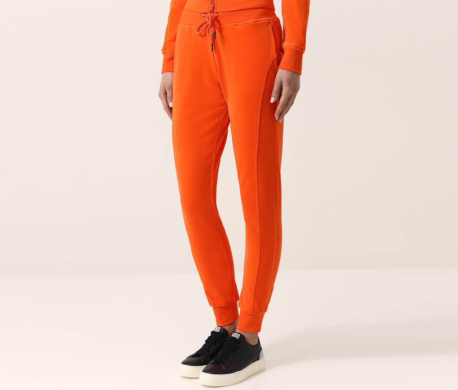 Puma Women's Velour Fitted Track Pants, Flame
