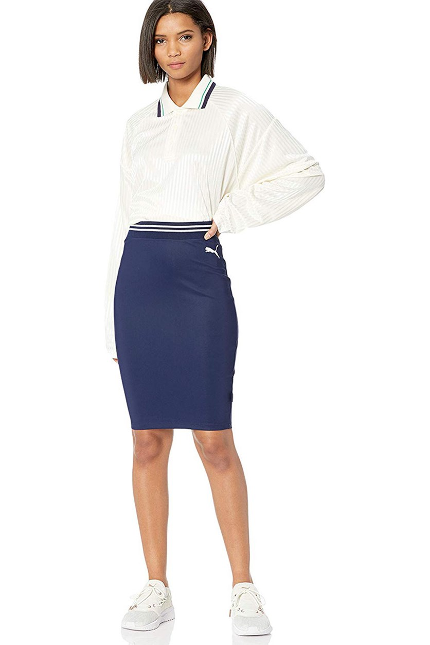 Women's Fenty Varsity Pencil Skirt, Evening Blue