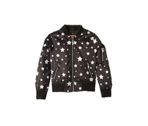 Urban Republic Luna Sateen Star Print Bomber Jacket, Black