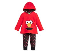 Nannette Girl's 2-Pc. Elmo Hoodie & Jogger Pants Set, Red