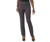 Gloria Vanderbilt Avery Pull On Straight Leg Jeans, Grey Twilight